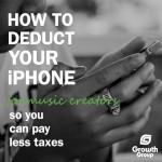 music iphone tax deduction