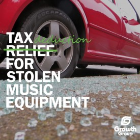 stolen music equipment tax deduction