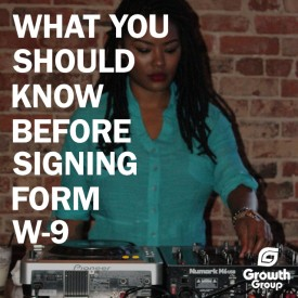 Form W-9 for musicians